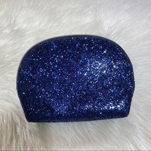 Blue glitter cosmetic bag Estée Lauder